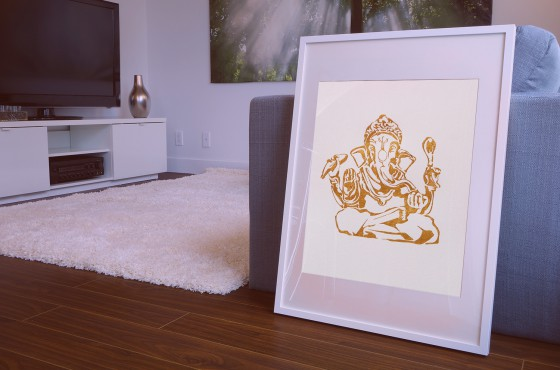 Poster of the buddhist god ganesha