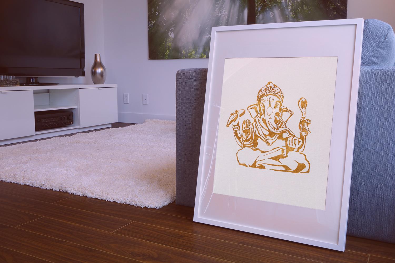 Poster of the buddhist god ganesha